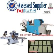 Mini pocket paper processing machine/Automatic folding & color printing wallet handkerchief paper machine