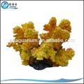 Hc-016 hecho a mano de Color amarillo Polyresin corales para el acuario tanques de la decoración