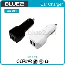 5V 4.2 A Dual usb car charger with 2 usb port for smart phone