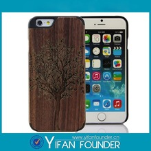 Alibaba trust factory black hard wooden cover skins for iPhone 6