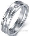 de acero inoxidable joyería de parejas el amor de la boda de banda del anillo