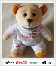 Promotion England T-shirt Plush Stuffed Bear