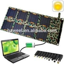 24W Portable Folding Solar Panel / Solar Charger Bag with USB Voltage Controller for Laptops / Mobile Phones, 24V / 5V