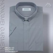 2015 ningbo factory latest design for men short sleeve wholesale clergy