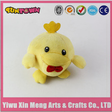lovely plush yellow chicken toys,big head mini chick toy