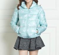 fancy short design ladies' down coats