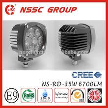 Best Price!!NSSC 4wd pickup led work light 4x4 led driving lights 35w 12v with lifetime warranty