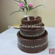 wholesale cheap high quality ceramic custom dog bowl
