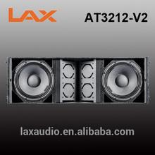 Dual 12inch 800W pro sound box design powered line array speaker
