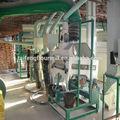 Maíz pelado y sémola de maíz que hace la máquina/de harina de maíz proceso de producción