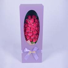 Vilentine's Rose One Gift Box Wishing Hand/Bath Flower Soap for Lover Use