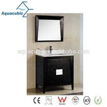 America Hot Sell Modern Marble Top Wooden Bathroom Vanity