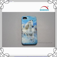 Tall and white horse PP 3d Plastic Phone Case