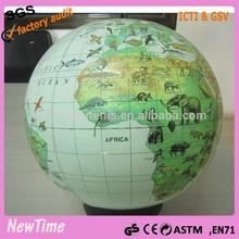 earth map inflatable world globe ball with animal print