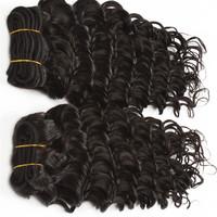 Unprocessed Malaysian Virgin Hair Deep Wave 2pcs/lot 12&14inch cheap remy human hair extensions