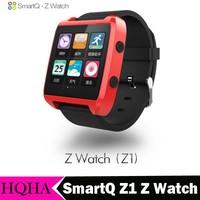 "Original SmartQ Z1 Z Watch Andriod 1GHz CPU 1.54"" TFT 512M DDR 4GB ROM Bluethooth Mp3 Video Wrist Phone Watch Waterproof"