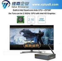 Windows TV Box 32GB Mini PC & TV BOX Quad-Core Intel Atom Z3735F 1.83Ghz Windows 8.1 OS TV Player 2GB RAM Portable PC