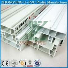 Customizable wood texture Swing window and door plastic profile frame Export to Thailand