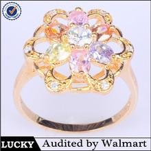 Fashion pink zircon ring fashion diamond cock ring