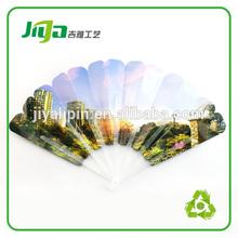 wonderful five sector folding hand fan for promotion