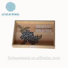 family used wooden fruits tray,factory supplied wooden food tray,party used wooden snacks storage tray