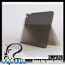 clear case wallet cover case for ipad mini tablet pc