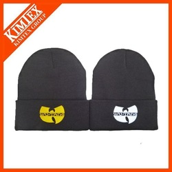 unisex hip hop acrylic embroidery knitted ski hat