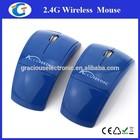 2.4Ghz pc wireless foldable arc design optical mouse logo