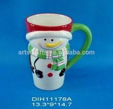 Funny snowman shaped ceramic coffee/tea mug