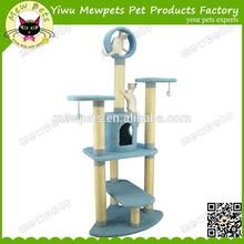 best selling wholesale blue exqusite plush cat tree