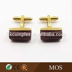 High quality 14k gold cuff links red wood cufflinks cuff Links