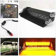 Car Amber/white 8Led Truck Emergency Beacon Light Bar Hazard Strobe Warning Lamp light