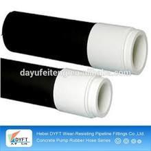 dn125 black concrete pump rubber delivery hose
