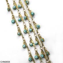 Decorative Brass Swing Eye Shaped Jewelry Chain