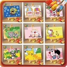 craft decoration diy mini oil painting by numbers kits children craft kits