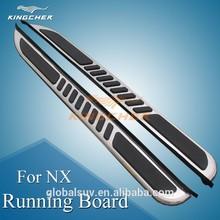 espejo de brillo de la superficie de acero inoxidable junta de funcionamiento paso lateral del coche accesorios aplicar a lexus nx