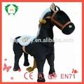Oi CE 2015 grande cavalo de pelúcia para crianças, Engraçado plush andando brinquedo do cavalo, Toy animais mecânica promoção