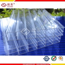 transparent hollow insulating polycarbonate triple wall