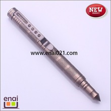Outdoor products and super utility metal protective self defense ball pen as military equipment with laser LOGO