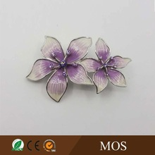 Imitation rhodium plated Amethyst and white color epoxy fashion jewelry brooches