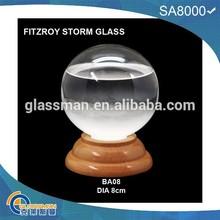 Crystal ball Fitzroy storm glass