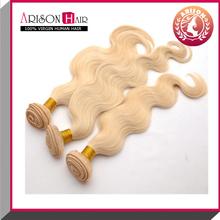 """12""""~36"""" factory wholesale virgin european hair, 613 blonde hair weave"""