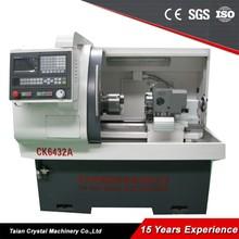 Mini torna makinesi fiyat/küçük metal cnc torna satılık ck6432a