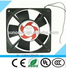 120x120x38mm 220V high efficiency low noise ac cooling fan