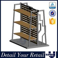 Popular on sale wood folding display shelves