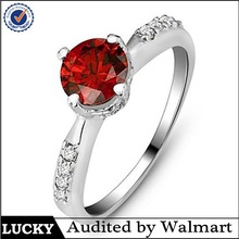 2015 fashion jewelry wholesale natural ruby ring