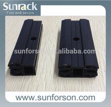 frameless panel solar clamp black/silver color