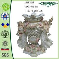 20.5 inch Double Angel Large Vase Decoration Angel Planter