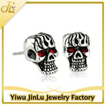 Punk skull earrings for men