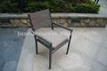 marco de aluminio de plástico de madera de jardín apilable silla de comedor al aire libre polywood silla apilable